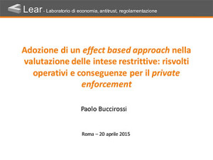 Intese restrittive della concorrenza ed effects based approach