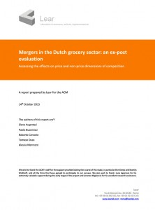 Mergers in the Dutch grocery sector: an ex-post evaluation
