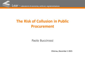 The Risk of Collusion in Public Procurement
