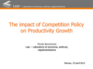 The impact of Competition Policy on Productivity Growth