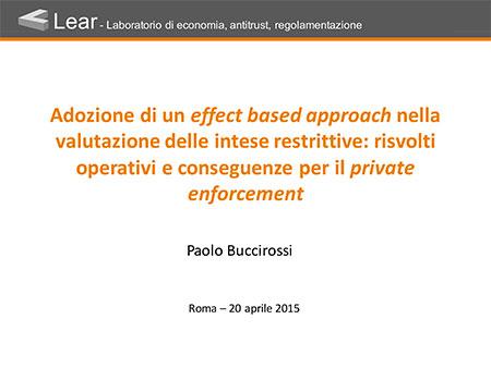 Intese restrittive della concorrenza ed effects based approach