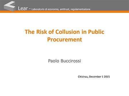 The Risk of Collusion in Public Procurement