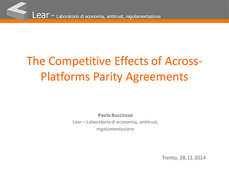 The Competitive Effects of Across-Platforms Parity Agreements